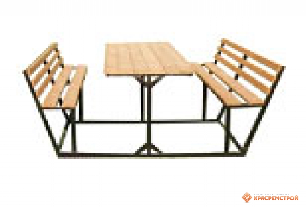 Дачный стол и лавочки